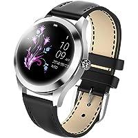 Smart Watch pour Femme, Fulltime® IP68 étanche Sport Montre Connectée moniteur Cardiofréquencemètre Bracelet pour Android IOS (Noir)
