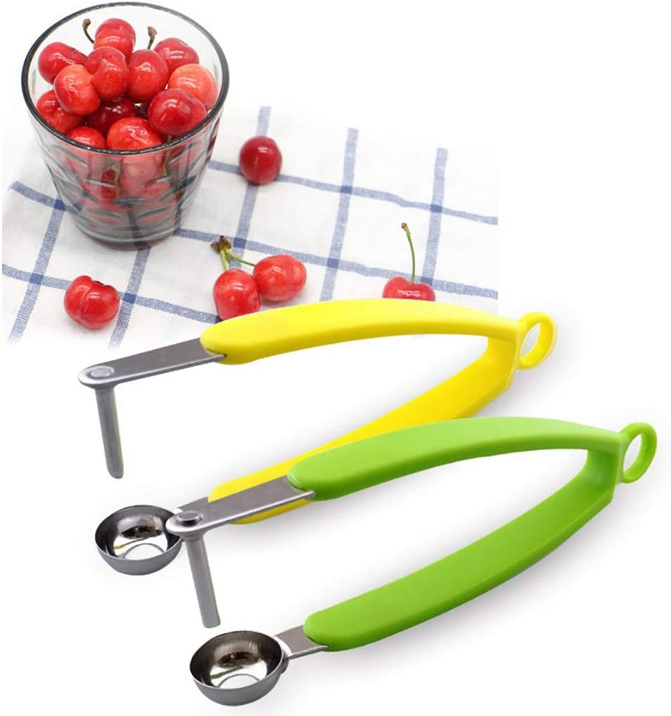 Cherry Olive Pitter Stoner Stone Pit Seed Remover Easy Squeeze Grip New Gift