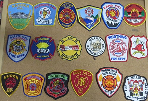 SOUTH DAKOTA FIRE/RESCUE DEPARTMENT PATCHES! LOT OF 18!