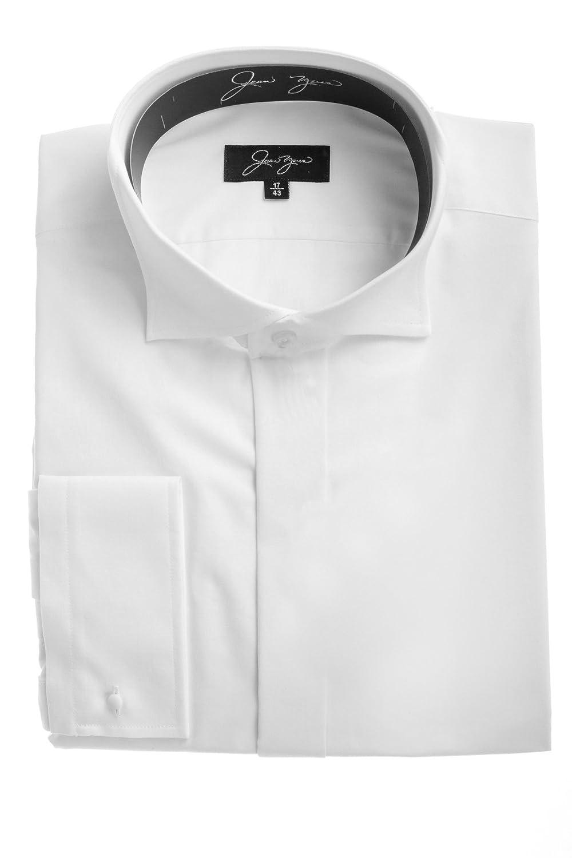 116c969bbf3e Richard Paul Mens White Wing Collar Formal Shirt: Amazon.co.uk: Clothing