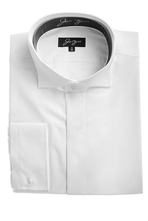 le dernier 888d0 c4199 Chemise blanche formelle à col cassé pour homme