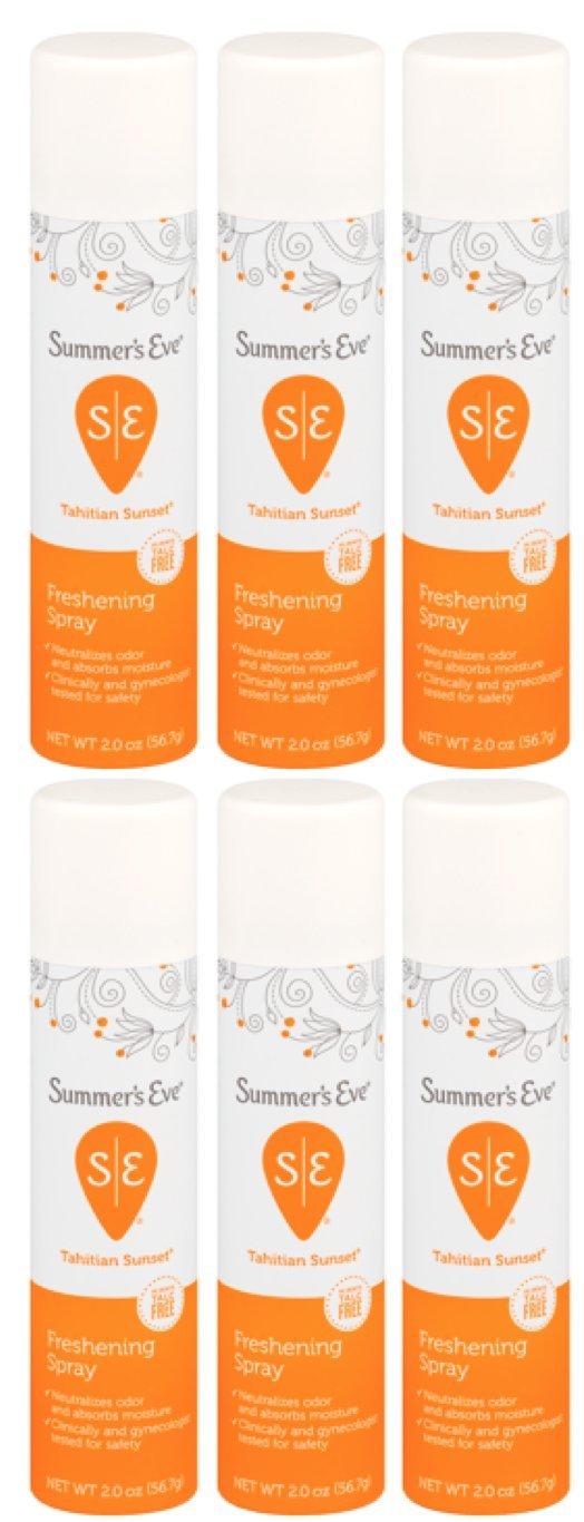 Summer's Eve Freshening Spray | Baby Powder | 2 oz Size | Pack of 6 | pH Balanced, Dermatologist & Gynecologist Tested Summer's Eve 41608001303