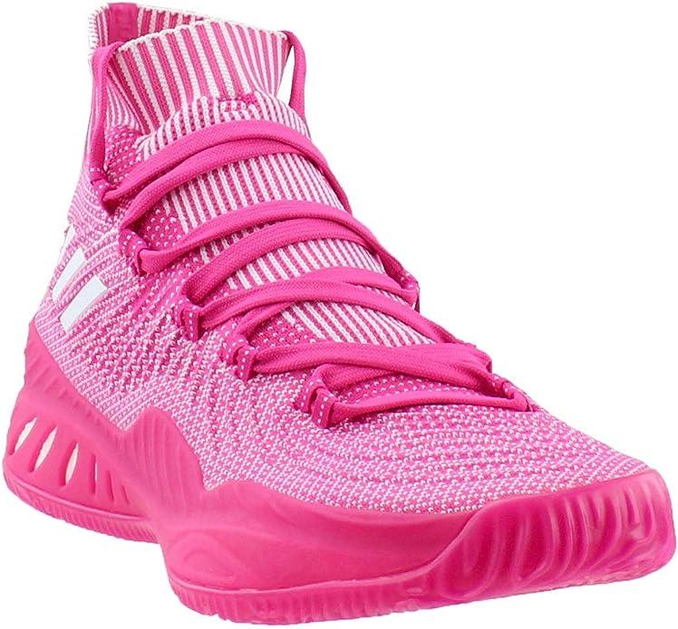 sílaba Minúsculo Producto  Amazon.com | adidas Crazy Explosive 2017 Primeknit Shoe - Men's Basketball  17 Shock Pink/White | Basketball