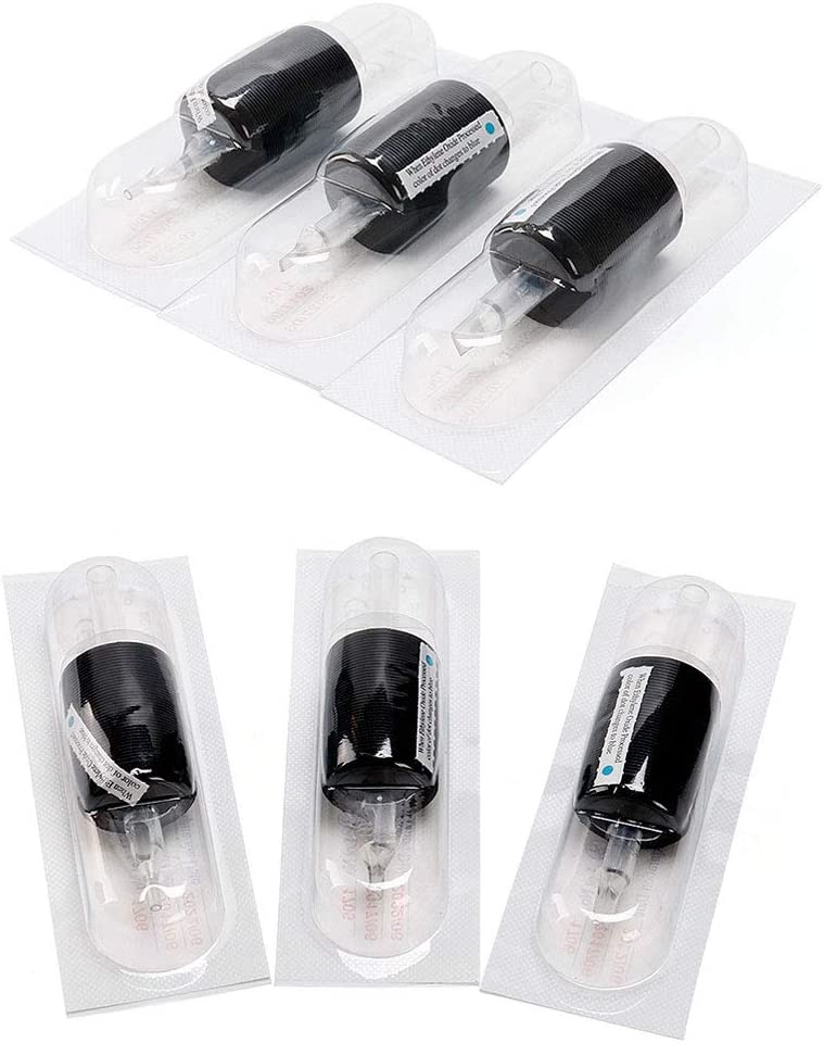 Box Artist Tattoo Artist QQYTS Tattoo Needle Disposable Fine Grain Transparent Rod Black Plastic Handle Needle Diameter 30mm 15 Color : 9DT