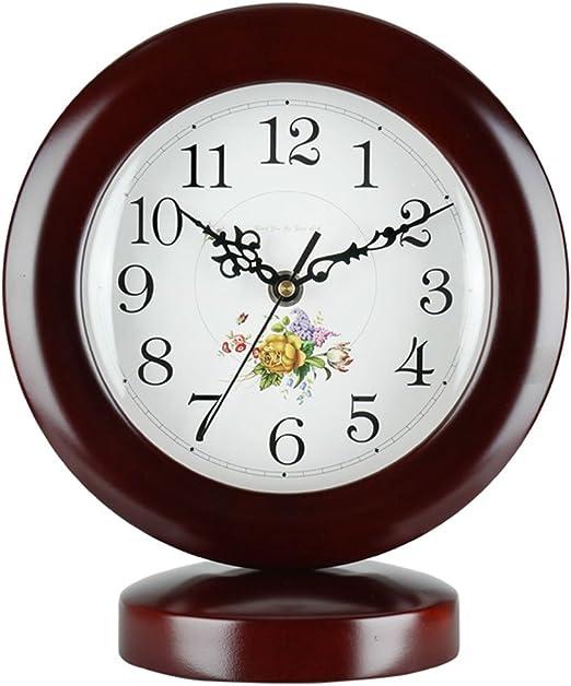 GYC Reloj de Mesa Dormitorio Cabecero Reloj Mudo Reloj de ...