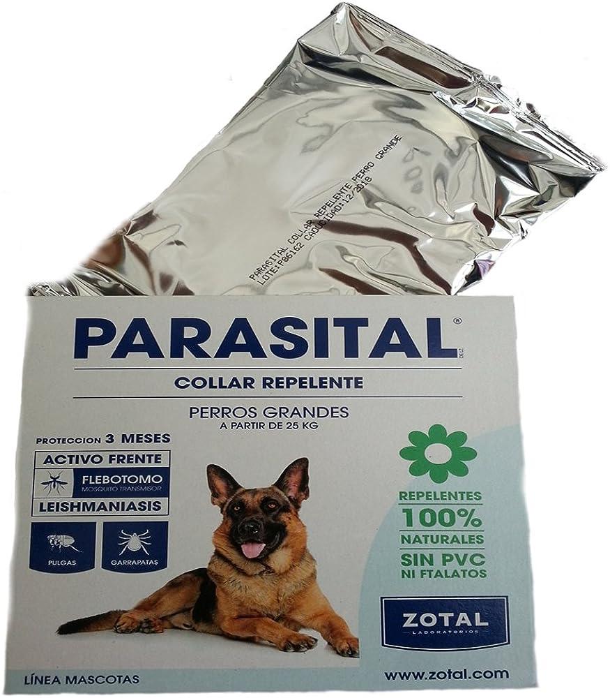 Collar anti-parásitos pulgas mosquitos para perros grandes más ...