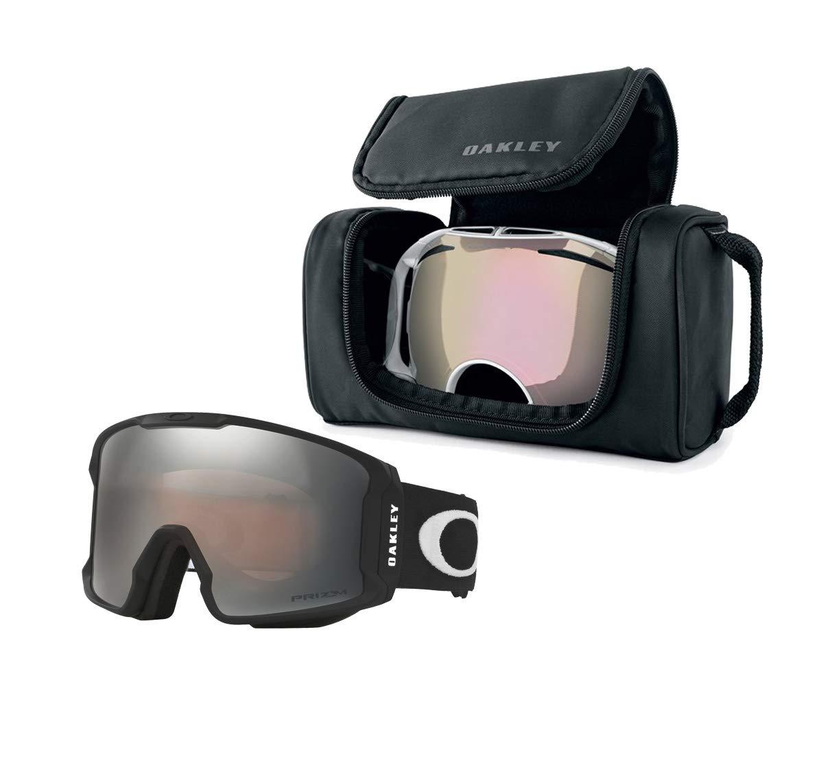 5f3db74d7dd1d Amazon.com   Oakley Line Miner Snow Goggle (Matte Black Frame Prizm Black  Iridium Lens) with Large Goggle Soft Case   Sports   Outdoors
