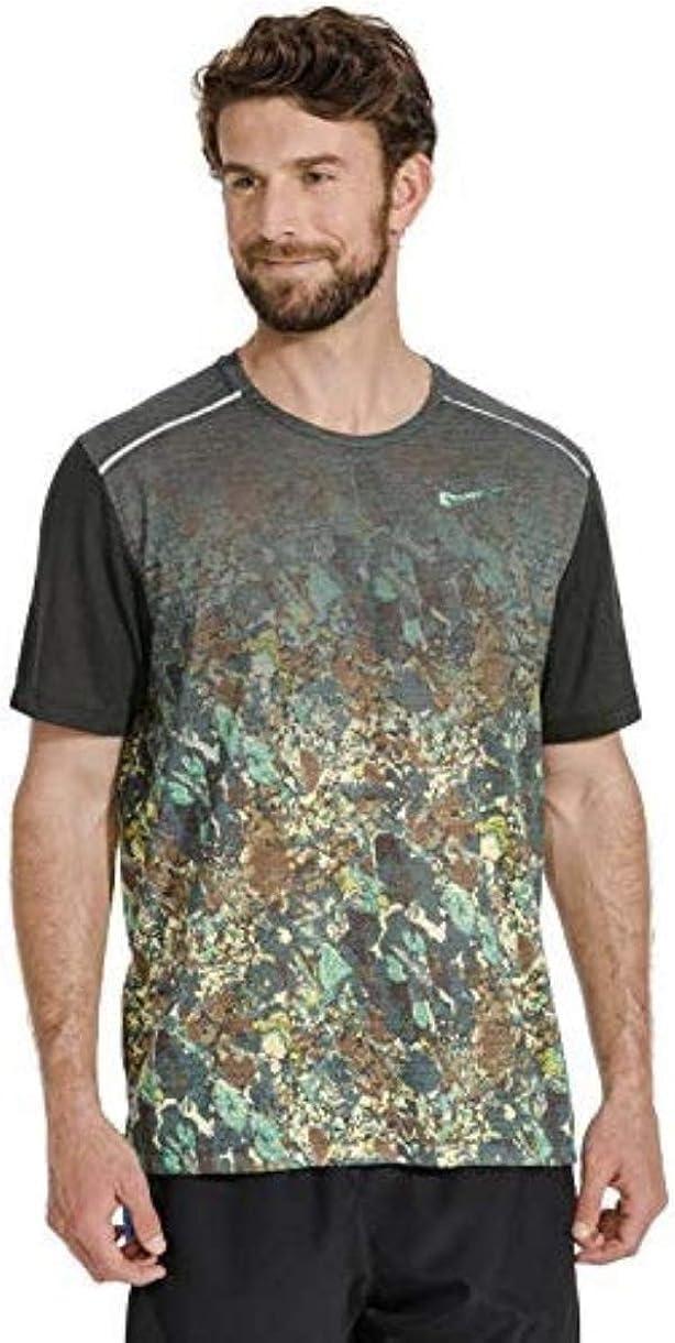 Nike Men's Rise 365 Short-Sleeve Printed Running Top Shirt Size XXL 61cX8xrOq0L