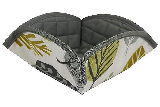 McAlister textiles Magda Geométrico Terracota Naranja 100/% algodón toalla de té Set