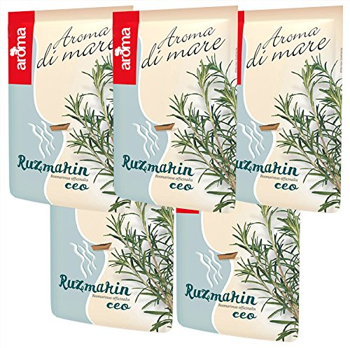 Dried Rosemary Leaves For Cooking And Baking 24 gr Rosmarinus Officinalis Pack of 5, 4.2 oz