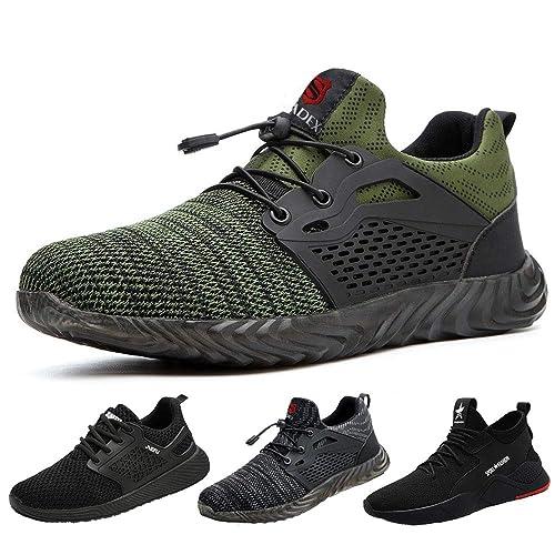 buy online 57058 43b37 SUADEEX Sicherheitsschuhe Herren s3 Arbeitsschuhe Damen Leicht Atmungsaktiv  Schutzschuhe mit Stahlkappe Sportlich Schuhe