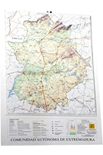 Mapa en relieve de Extremadura: Escala 1:400.000: Amazon.es: All ...