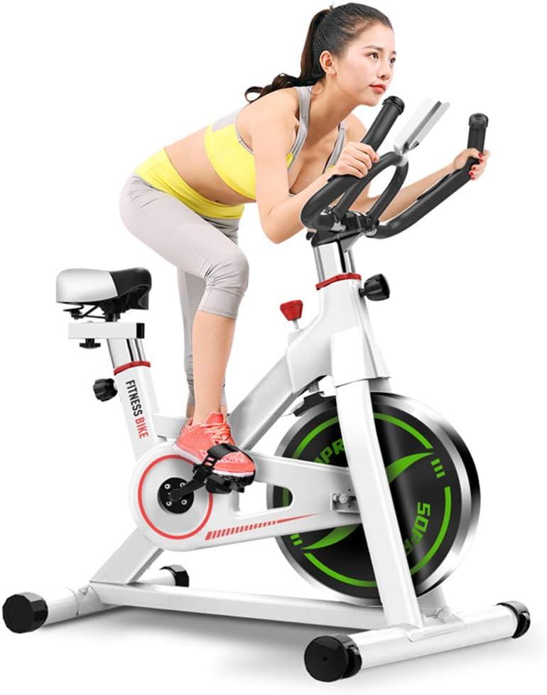 MLQ Bicicleta de Spinning para Interiores, Bicicleta de Ejercicios Ajustable para Silencio en el hogar, Estructura de Soporte de Carga Triangular Doble, más Estable, con Pantalla LCD, para Oficina: Amazon.es: Hogar