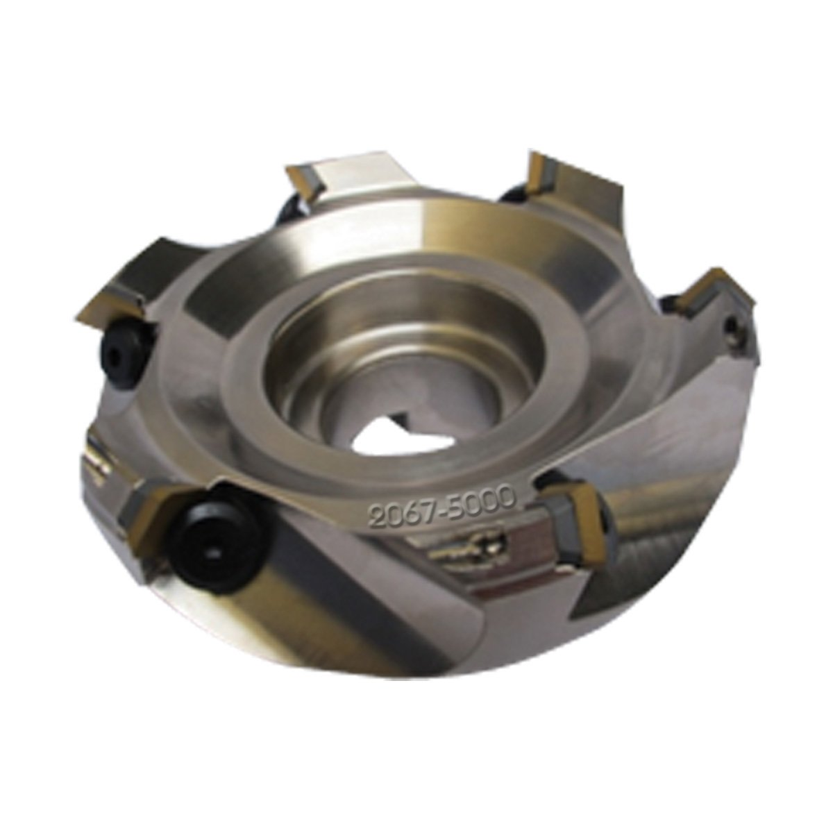 HHIP 2067-5000 5'' x 1-1/2'' Bore 45 Degree SE42 Index able Face Mill, 6 Teeth, 2.48'' OAL