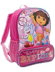 Global Design Concepts Kids Dora The Explorer Pink Glitter 16-Inch Backpack, Pink