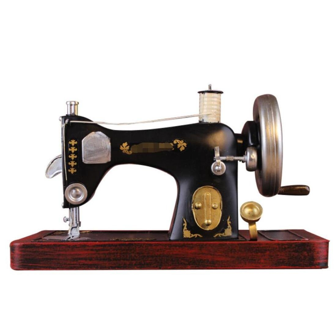 GL&G Retro Iron art large Sewing machine model clothing store Window decoration Home Décor Accents Collectible Tabletop Scenes Ornaments High-end gift,301418cm