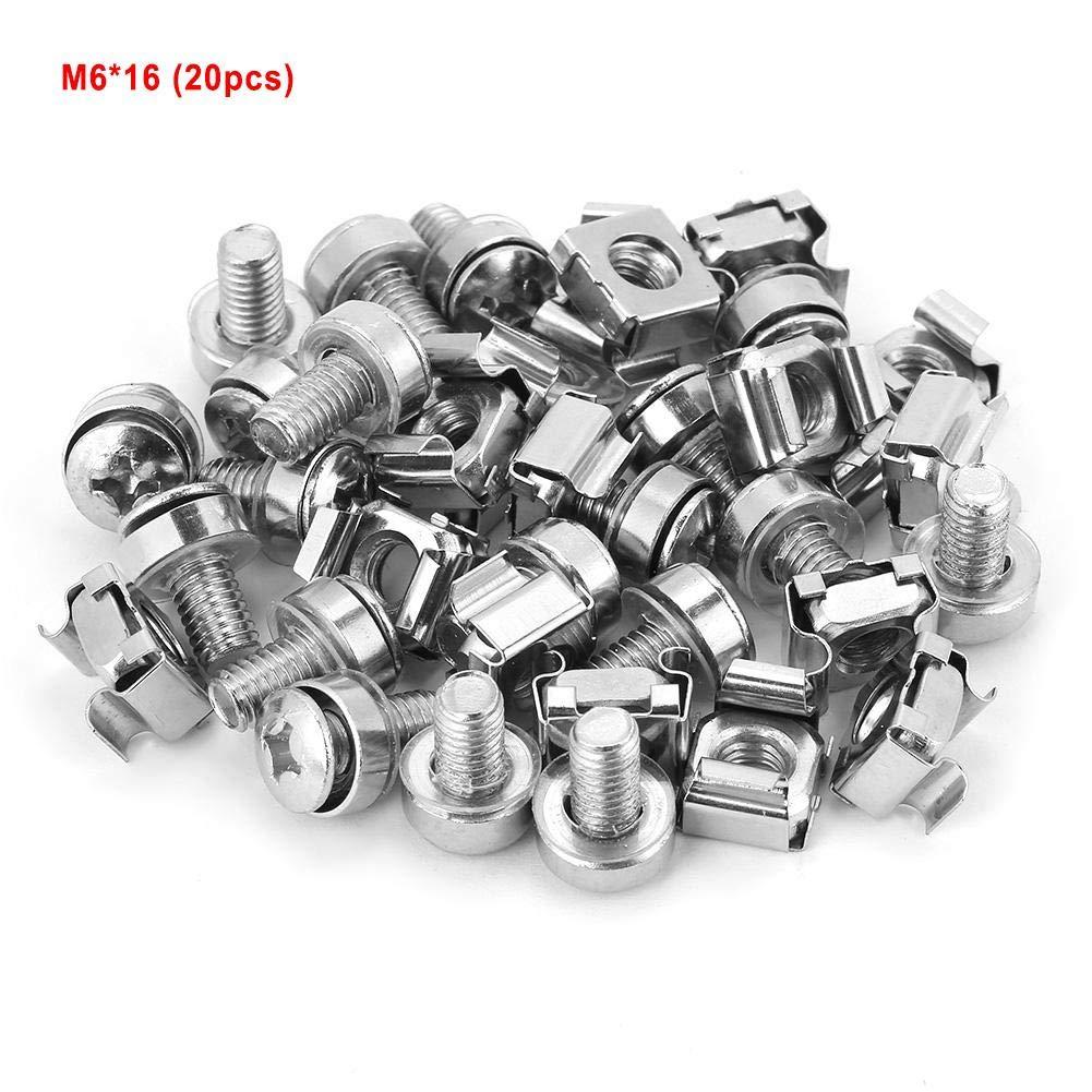 M5*20 20 Teile//satz Sicherungsmutter Netzwerk Schrank Rack Schrauben /& Muttern Sortiment Kit Befestigungsschrauben Hardware