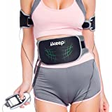 IKEEPI EMS腹筋ベルト USB充電式 腹筋 腕筋 太もも 腹筋器具 6種類モード 9段階強度 腹筋マシン 筋トレ 腹腕セット 男女兼用 日本語説明書付き
