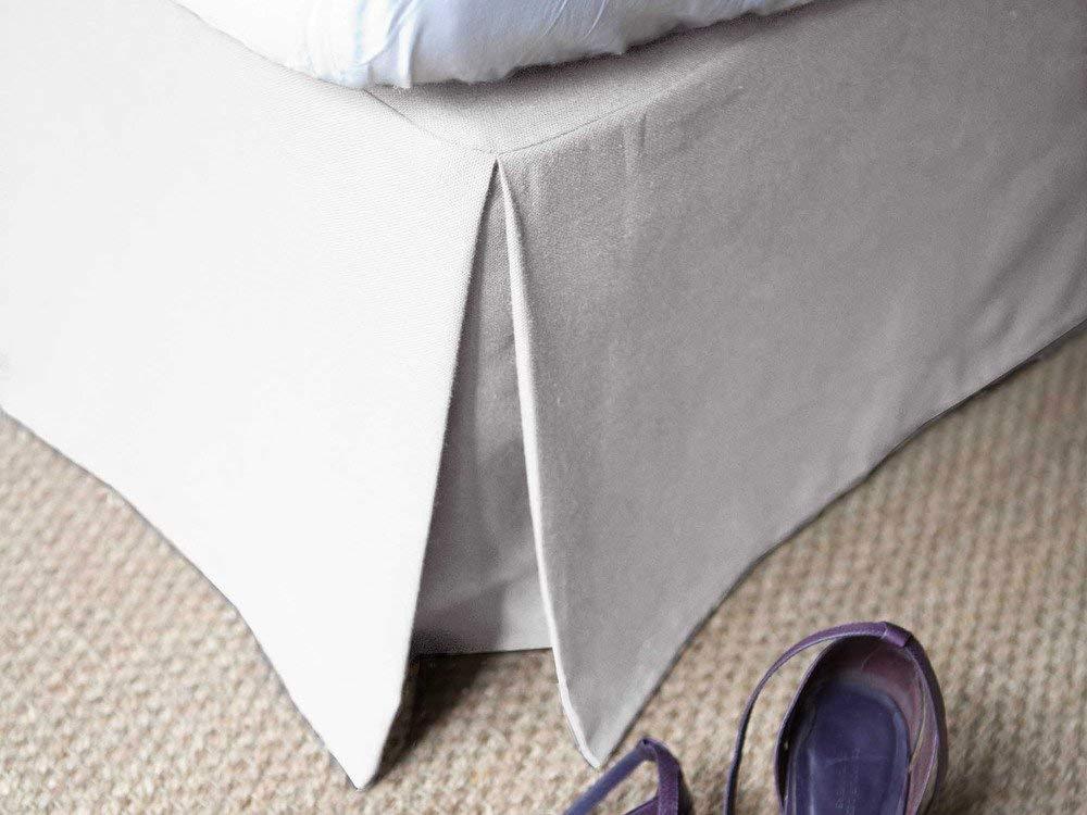 Delamaison Cache-sommier 180x200 en Coton Blanc 220gr//m2 ALACASA