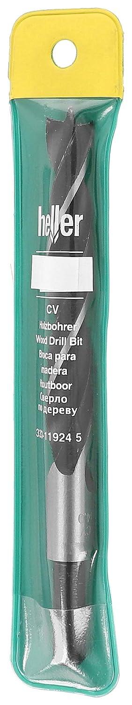Arbeitsl/änge: 200 mm Durchmesser: 10 mm 1 V Gesamtl/änge: 250 mm 10 x 200 Heller 23356 CV Holzspiralbohrer