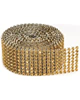 8 Rows Bling on a Roll, 3mm x 2-Yard, Gold