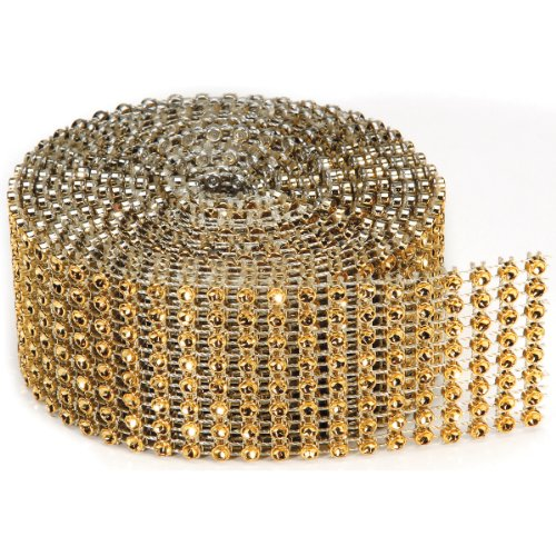 8 Rows Bling on a Roll, 3mm x 2-Yard, Gold - Ribbon Gem