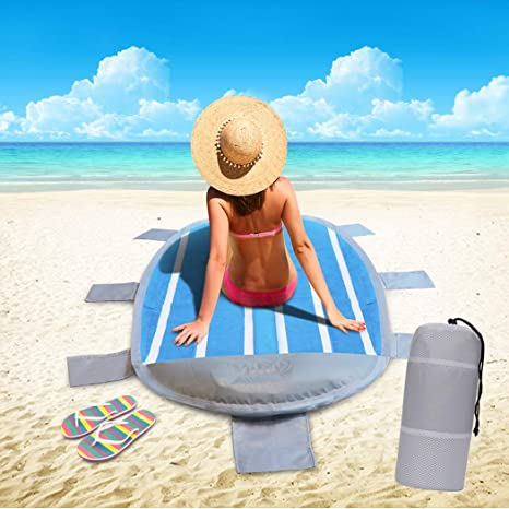 Idtap - Esterilla de Playa Impermeable portátil con cojín ...