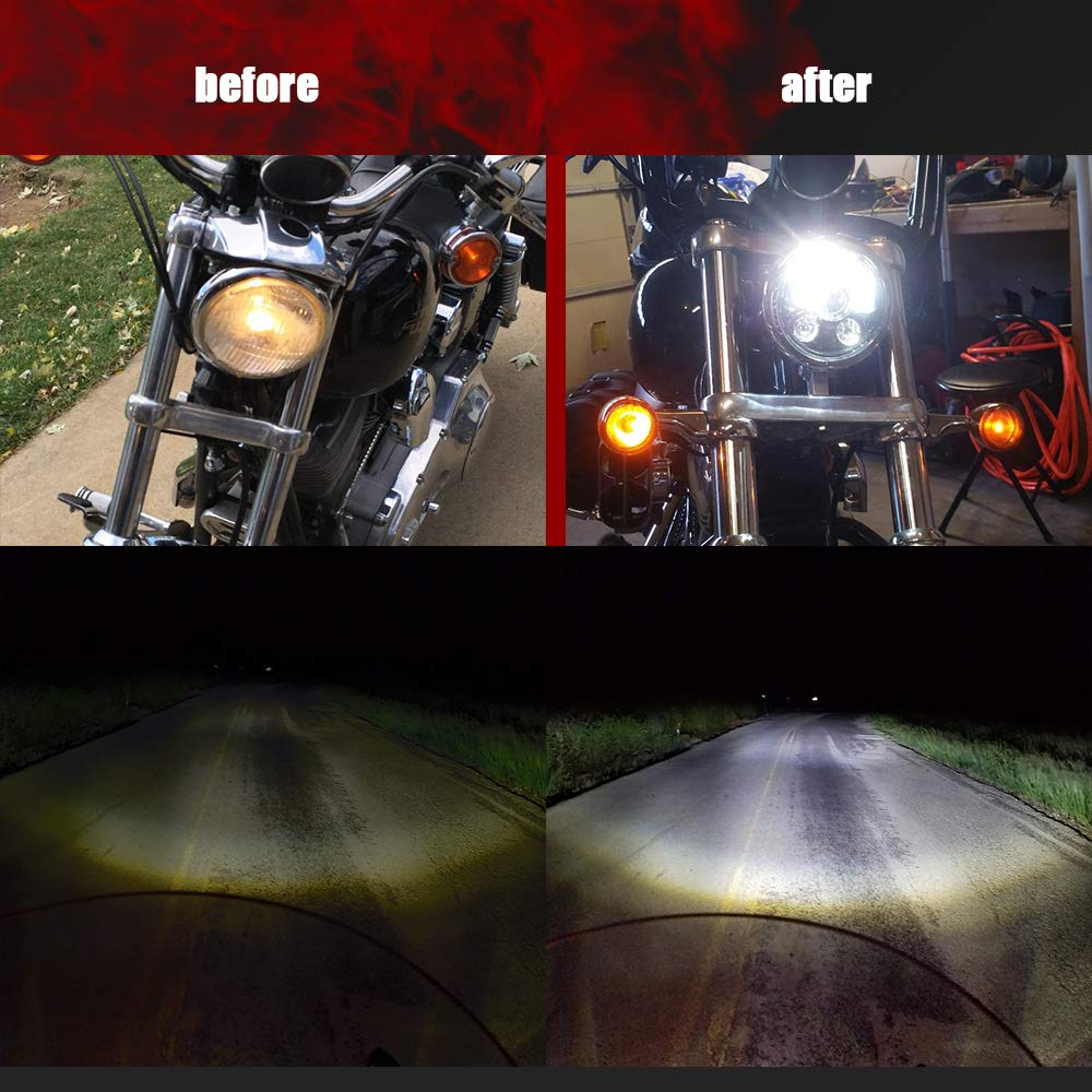 Street Bob Softail Low Rider Wide Glide Faro Tondo Moto 146/mm 5.75pouce LED luci anteriore moto per Harley Davidson Iron 883 Sportster Dyna
