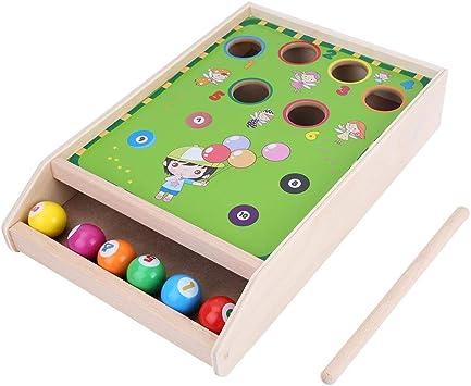 Tnfeeon Mini Juguete de Billar de Madera para niños, Juego de ...