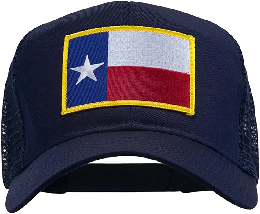 df3d0f6273d9a e4Hats.com Texas State Flag Patched Mesh Cap - Navy OSFM at Amazon ...