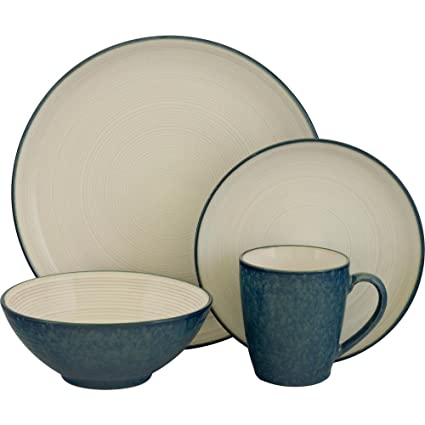 Sango Jewel Blue 16-Piece Dinnerware Set4  sc 1 st  Amazon.com & Amazon.com | Sango Jewel Blue 16-Piece Dinnerware Set4: Dinnerware ...
