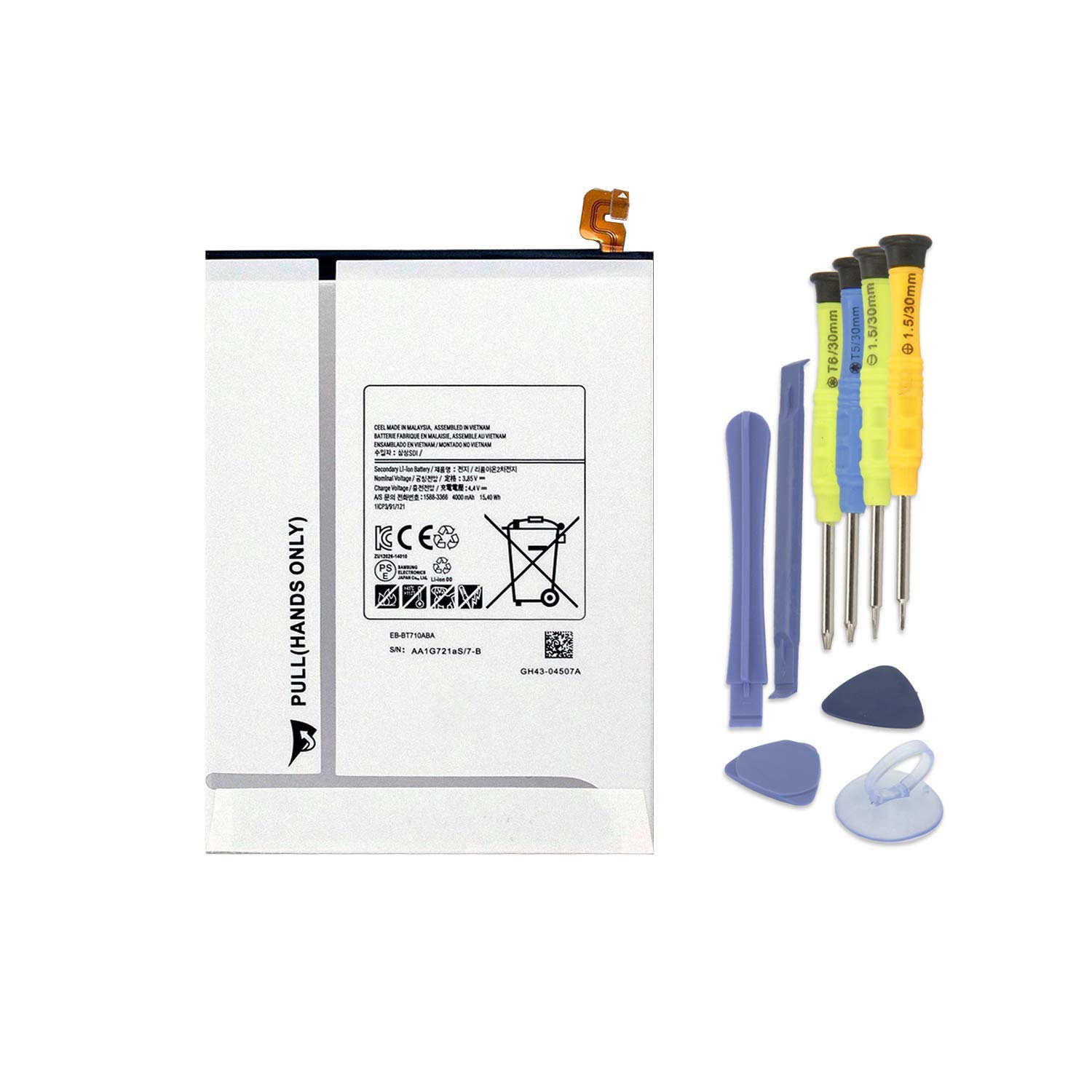 ZTHY New EB-BT710ABE Battery Replacement for Samsung Galaxy Tab S2 8.0 WiFi LTE-A T710 T715 T719 3G/LTE T719N SM-T710 SM-T713 SM-T715 SM-T715C SM-T719Y Tablet EB-BT710ABA EB-BT710ABC 15.4Wh 4000mAh by ZTHY