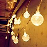 Cmyk® Battery Operated 40 LED String Light with Crystal Ball Covers, Ambiance Lighting, Great for Outdoor Use in Patio, Pathway, Garden, Indoor Use in Party, Bedroom Decor (Warm White)