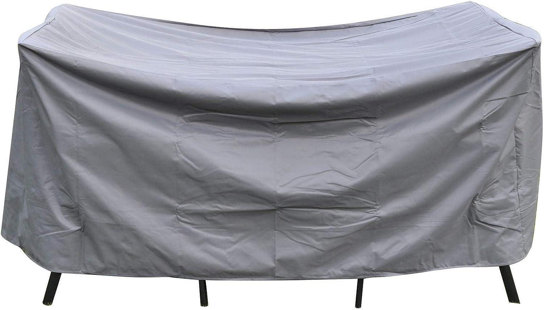 Schutzh/ülle Gartenm/öbel wasserdicht Abdeckung Winterfest Sitzgruppe H/ülle robust Polyester 420D, ca. 185 x 125 x 85 cm Bambelaa Eckig
