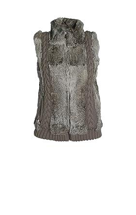76d93f1cce5b5c Oakwood LIPSTICK Weste mit Fellbesatz in Grau: Amazon.de: Bekleidung