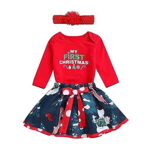 2c99490ddf34 Amazon.com  Christmas Dress for Infant Toddler Kids Baby Girl