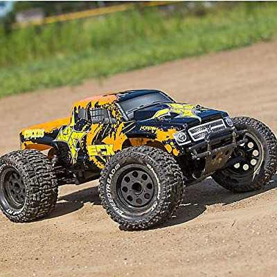 1/10 Ruckus 2WD Monster Truck, Brushed, LiPo RTR: Black/Orange