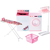 Ivory Gloria Dollhouse Furniture - Laundry Room with Iron & Ironing Table Playset