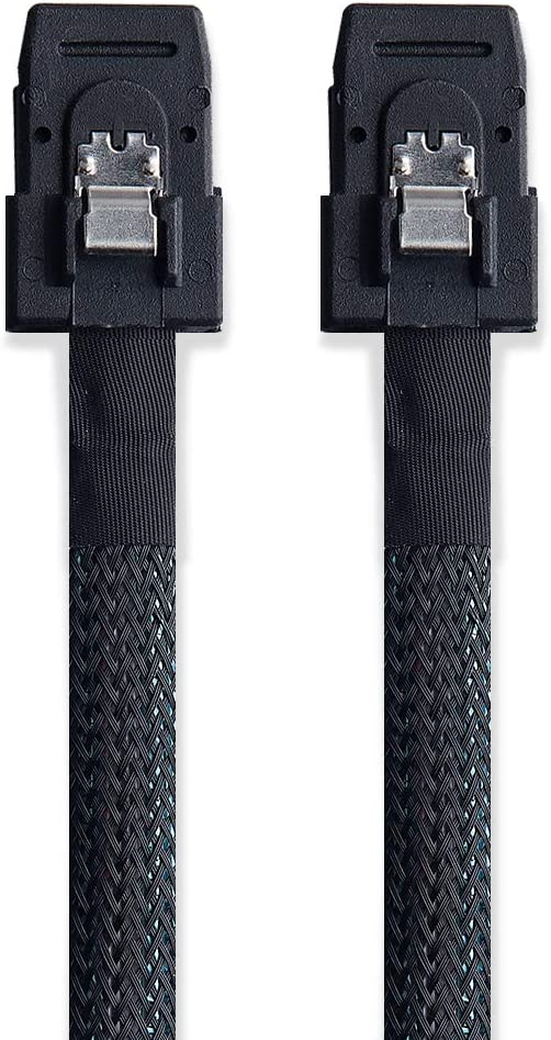 10Gtek Flexible SFF-8087 to SFF-8087 Mini SAS Cable Cable Interno Mini SAS SFF-8087 a SFF-8087 1-Metro Delgado 2pcs 2 Pack