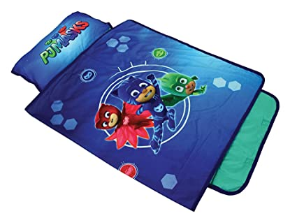 Fun House 712975 pyjamasques Alfombra de sieste- – Saco de Dormir con Almohada para niños
