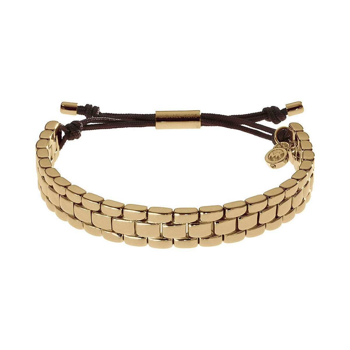 Michael Kors Damen Armband Stoff Edelstahl IP Gold