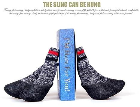 WYXIN Calcetines térmicos impermeables de Terry para el otoño y el invierno Calcetines antideslizantes para perros antideslizantes Zapatos de algodón para ...