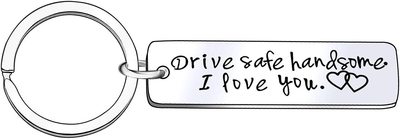 Llavero de Seguridad para conducción, Regalo para el Amante del Padre, Seguro y Guapo, con Texto en inglés I Love You, Llavero Seguro para el Conductor, Regalo para la Familia, Pareja, Marido, espo