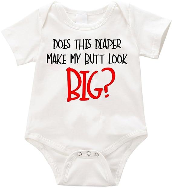 Anicelook Does This Diaper Make My Bytt Look Big Infant Romper Onesie Creeper Nb