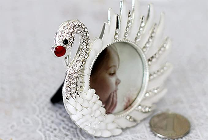 Amazon.com - WEIWEI Creative swan Photo Frame, Metal Photo Frame Crafts Birthday Gift Photo Frame-A 4x3cm(2x1inch) -