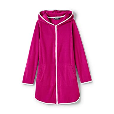 Amazon Com Lands End Toddler Girls Terry Hooded Cover Up Clothing