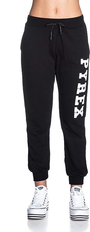 Pyrex 19EPB 40004 Pantalone Donna con Stampa Classic Nero