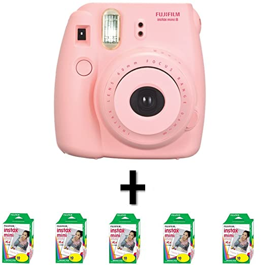 Amazon.com : New Model Fuji Instax 8 Color Pink Fujifilm Instax ...