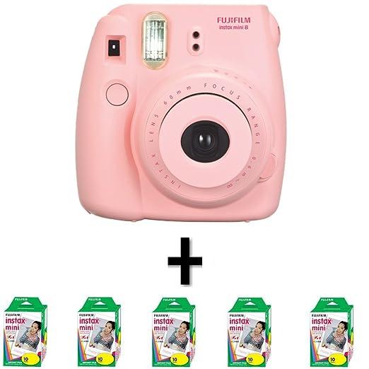 New 50 Films + Fuji Instax 8 - Pink - Fujifilm Instax: Amazon.co ...