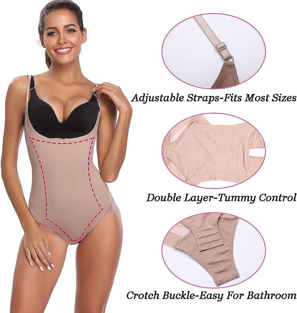 Joyshaper Mujer Body Faja Reductora Modeladora Abdomen Cintura Cors/é Bodysuit Postparto Adelgazantes Underbust sin Costuras Escote por Debajo del Pecho Control de Barriga